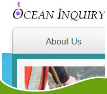 Screen shot of ocean indquiry project